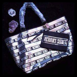 Victoria Secret silver sequin totes bag
